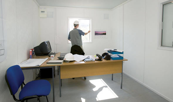 Construction site office delivered in just four hours